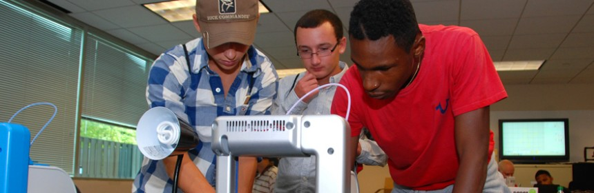 Students in YouthQuest's first 3D ThinkLink Lab immersion training week