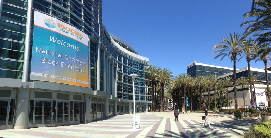 National Society of Black Engineers sign at Anaheim Convention Center