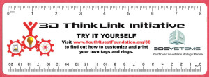 YouthQuest 3D ThinkLink ruler/bookmark