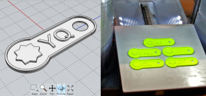 personalized 3D-printed key chain tags