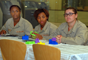 South Carolina Youth ChalleNGe Academy Cadets LaKrisopher McCoy, Aaliyah Lilly and Shiann O'Shea visit 3D Systems headquarters for Vocational Orientation in April.