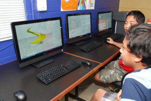 Learning Moment of Inspiration 3D modeling software at Boys & Girls Club summer camp at Culmore Character Club in Fairfax County, Virginia July 2015