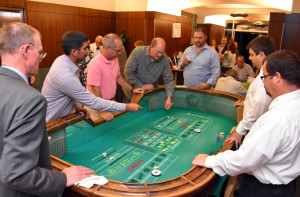 Guests play games at Casino Night celebrating YouthQuest's 10th anniversary