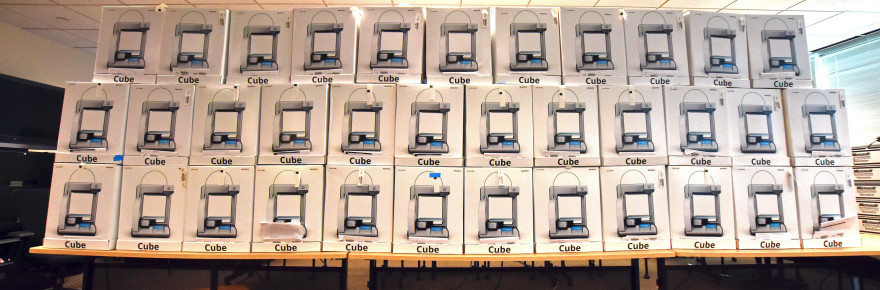 35 Cube 2 3D printers donated to YouthQuest's 3D ThinkLink Initiative by 3D Systems