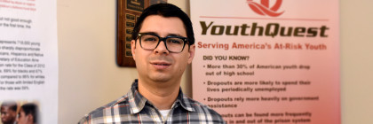 YouthQuest Foundation Operations Manager Juan Louro