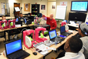 Students in 3D ThinkLink Lab