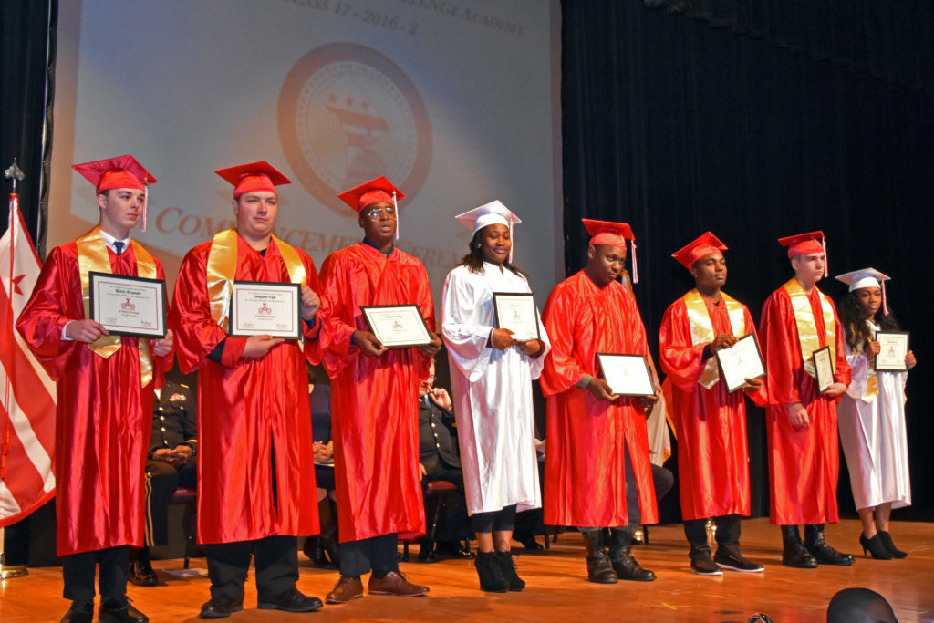 3D ThinkLink students graduate from Capital Guardian Youth ChalleNGe Academy on December 12, 2016 at the University of the District of Columbia